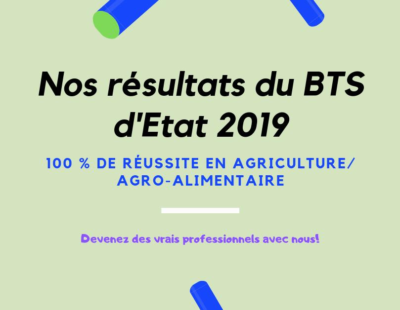 Résultats du BTS d'Etat 2019(1)
